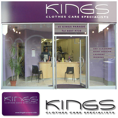 Kings shopfront signage